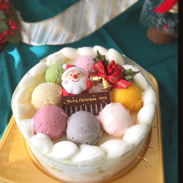 画像1: アイスケーキクリスマスポンポン